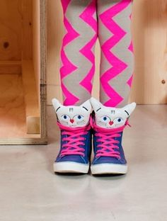 Pink Laces Kitty Cat Sneaker