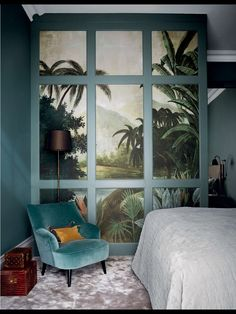 Yo chuck an otherworldly prehistorical Window effect in your mostly velvet bedroom whydontcha