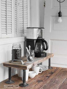 DIY Coffee Bar Industrial Pipe
