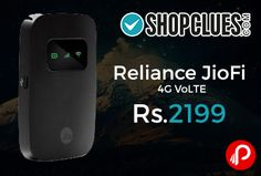 Shopclues is offering 19% off on Reliance JioFi 4G VoLTE Just at Rs.2199. Connect Upto 10 Devices, 2600 mAh Battery, Wireless Sharing Through SD Card ( SD card Not Included),   http://www.paisebachaoindia.com/reliance-jiofi-4g-volte-just-at-rs-2199-shopclues/