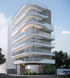 Residential project in the South Zone of Rio de Janeiro. - Different and beautiful ideas Condominium Architecture, Facade Architecture, Residential Architecture, Amazing Architecture, Contemporary Architecture, Contemporary Design, Modern Design, Design Exterior, Facade Design