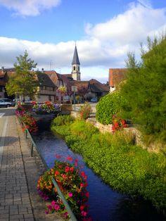 Flower Streets of Stotzheim, Alsace France