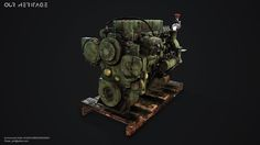 "ArtStation - Project ""Our Heritage"" Prop [Caterpillar Engine], Ehsan Ebrahimzadeh"