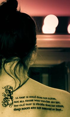 Tolkien Tattoo- I want this up the back of my leg. Maybe up both legs. Like the seams on tights.
