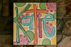 NAME canvas Personalized & Hand by DAKRIsinclair on Etsy, $35.00