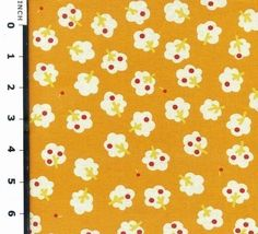 The Little Apple Trees in YellowEkQS27112D by IKOplusFabric, $6.40