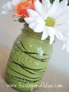 twine wrapped spray painted glass tutorial