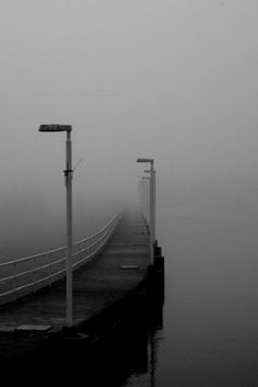 Oulu, Finland by Pehvanssi. Silent Hill comes to mind. Street Photography, Art Photography, Landscape Photography, Backgrounds Wallpapers, Monochrom, Black And White Pictures, White Art, Belle Photo, Black And White Photography