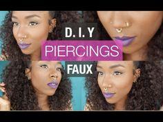 D I Y FAUX BODY PIERCINGS | FAUX SEPTUM RING