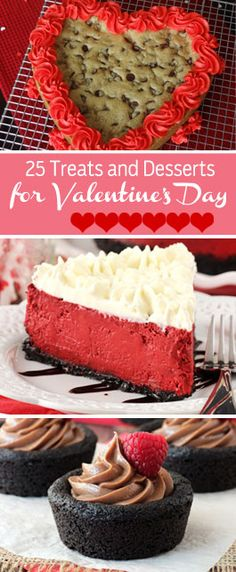 Treats and Desserts for Valentine's Day 25 awesome treats and desserts for Valentine's Day! Everything from cookies and puppy chow, to cake and awesome treats and desserts for Valentine's Day! Everything from cookies and puppy chow, to cake and cupcakes! Valentine Desserts, Valentines Day Treats, Köstliche Desserts, Holiday Desserts, Holiday Baking, Holiday Treats, Holiday Recipes, Delicious Desserts, Dessert Recipes