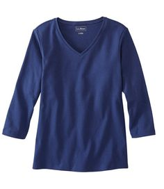 Find the best L.Bean V-Neck, Three-Quarter-Sleeve at L. Our high quality Women's Shirts and Tops are thoughtfully designed and built to last season after season. Ll Bean, Types Of Sleeves, Sleeve Types, Quarter Sleeve, Amazing Women, V Neck T Shirt, My Style, How To Wear, Clothes