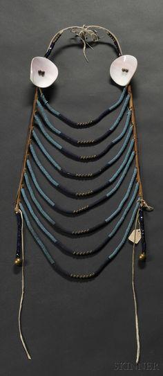 BLACKFOOT BEADED LOOP NECKLACE, C. LAST QUARTER 19TH CENTURY,