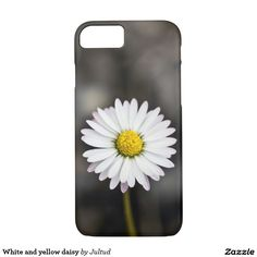 White and yellow daisy iphone 7 case
