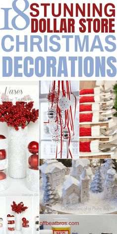 Christmas decorations need not be expensive. These dollar store christmas decor ideas are amazing and give your home stunning christmas decoration on budget. Im glad I found these awesome Dollar store christmas decoration ideas. Christmas Party Decorations, Diy Christmas Ornaments, Christmas Projects, Diy Christmas Gifts, Holiday Crafts, Christmas Crafts, Christmas Ideas, Holiday Ideas, Christmas Time