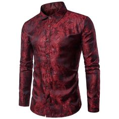 Cheap silk shirt men, Buy Quality flower shirts for men directly from China designer shirts men Suppliers: Bright Silk Shirts Men 2017 Promotion Autumn Long Sleeve Casual Cotton Flower Shirts for Men Designer Slim Fit Dress Shirts Slim Fit Dress Shirts, Slim Fit Dresses, Fitted Dress Shirts, Long Sleeve Shirt Dress, Long Sleeve Shirts, Slim Fit Casual Shirts, Camisa China, Mens Paisley Shirts, Chemise Fashion