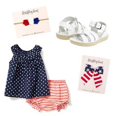 4th of July Outfit Inspiration   Sailor Stripe Bow   Felt Flower Crown