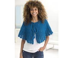 Openwork Cape Shawl (Crochet)