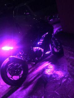 Motorcycle Purple Underglow