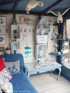 Nautical but Nice is an entrant for Shed of the year 2015 via Readersheds summer garden – Outdoor Wedding Decorations 2019 Beach Hut Shed, Beach Hut Decor, Seaside Decor, Beach Cottage Decor, Coastal Decor, Beach Theme Garden, Seaside Garden, Beach Huts, Beach Hut Interior