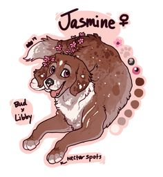 Jasmine by KingCavy on DeviantArt Cute Animal Drawings, Cartoon Drawings, Cute Drawings, Cartoon Dog, Cute Fantasy Creatures, Mythical Creatures Art, Anime Wolf Drawing, Wolf Artwork, Puppy Drawing