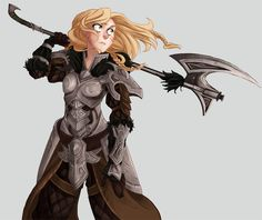 f Gnome Paladin Plate Armor Battle Axe female med Character Creation, Fantasy Character Design, Character Design Inspiration, Character Concept, Character Art, Concept Art, Dnd Characters, Fantasy Characters, Female Characters