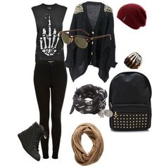Image via We Heart It https://weheartit.com/entry/169528998 #accesories #bag #black #boots #clothes #cool #fashion #girls #heavy #idea #jeans #metal #outfit #punk #rock #sweater #t-shirt #teenagers #teens #forgirls