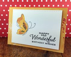 """Card made by stef I used Altenew """"Painted Butterflies"""" and the sentiment is from Hero Arts."""