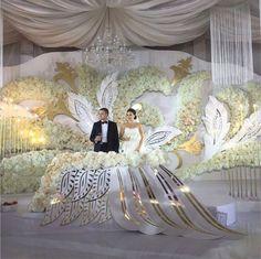 Wedding stage decorations image by Sheenat on Weddings ceremony Wedding Ceremony Ideas, Wedding Stage Decorations, Flower Decorations, Wedding Table, Wedding Events, Weddings, Event Decor, Wedding Designs, Floral Arrangements