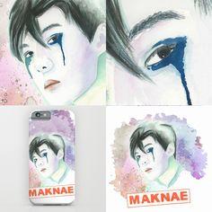 maknae #sehun from #exo #kpop  #society6 #watercolor #painting