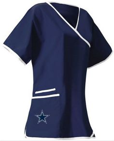 97013b8819a Dallas Cowboys Womens NFL Scrub Top Dallas Cowboys Women, Cowboys Football,  Football Gear,