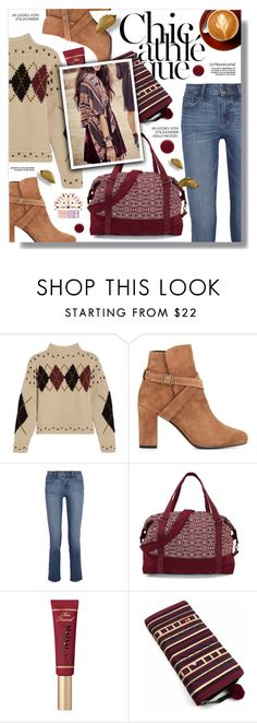 """Holiday Style: Cozy Chic"" by sans-moderation ❤ liked on Polyvore featuring Isabel Marant, Yves Saint Laurent, J Brand, Too Faced Cosmetics, Deborah Lippmann, polyvoreeditorial, polyvorecontest and tribalover"