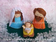 Mini felt Nativity
