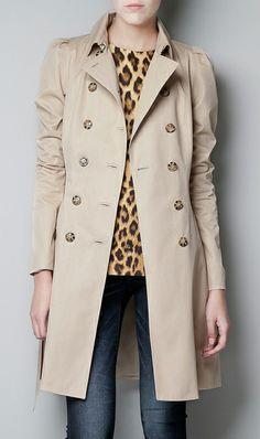 Khaki windbreaker jacket trench coat
