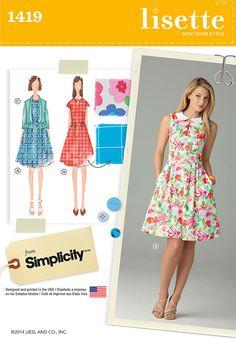 Simplicity Pattern: S1419 Misses' Dress & Jacket — jaycotts.co.uk - Sewing Supplies