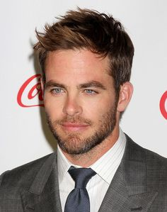 its hot in here, right ? not just me ?  Chris Pine.  Those eyes (: