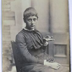 Beatrix Potter with Her Pet Mouse Xarifa, 1885. Cotsen Children's Library. Department of Rare Books and Special Collections. Princeton University Library Photography: Princeton University Library