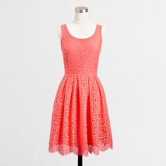 JCrew Factory Swirling Lace Dress - would look awesome in the springtime with a jean jacket and brown belt!