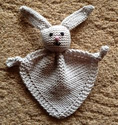 Ravelry: Knitted Bunny Blanket Buddy pattern by Lion Brand Yarn