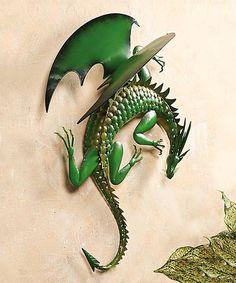 Look what I found on #zulily! Climbing Green Dragon Steel Wall Art #zulilyfinds