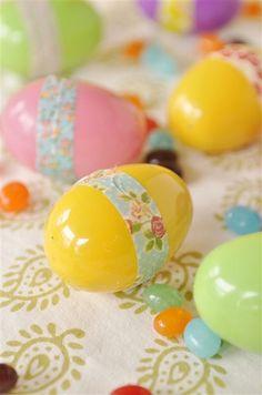 Washi eggs - easy #Easter idea!