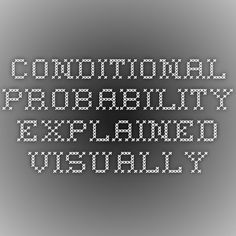 Conditional probability explained visually