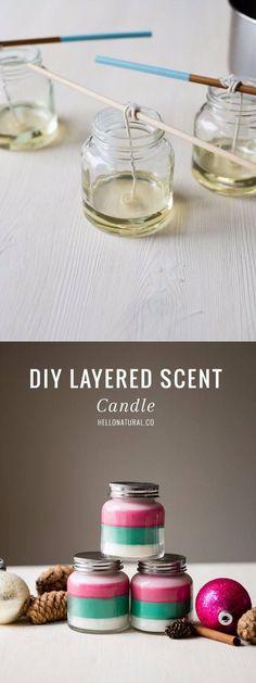 Frascos de velas aromáticas caseras / http://helloglow.co/