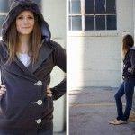 DIY 3-button hoodie. Big to smaller hoodie. Sweatshirt liposuction.