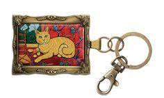 Orange Tabby - Catisse, 2x 2.75 Key Chain - Paw Palettes - Pavilion Gift Company