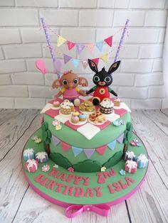 Bunny Birthday Cake, Paw Patrol Birthday Cake, Picnic Birthday, Baby Birthday Cakes, 2nd Birthday, Coelho Bing, Cbeebies Cake, Bing Cake, Bing Bunny