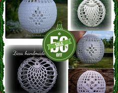 5 crochet christmas balls ornament pdf pattern
