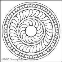 Digitized Quilting Design Pearl Center Plain Wreath by Sherry Rogers-Harrison. For use on any long arm quilting machine with a computer guided quilting system installed. Quilting Rulers, Longarm Quilting, Free Motion Quilting, Hand Quilting, Machine Quilting, Machine Embroidery, Mosaic Patterns, Embroidery Patterns, Quilt Patterns