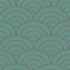 Shand Kydd Metallic Scallop Shapes Wallpaper-putting this in the kitchen
