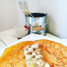 receta: crêpe de pimiento morrón rellena de pollo en velouté