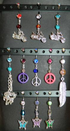 Diy Belly Ring Jewelry holder I was getting tired of looking for